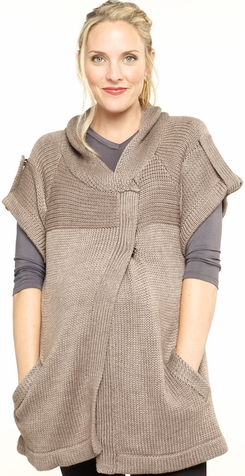 SOLD OUT Everly Grey Short Sleeve Maternity Sweater