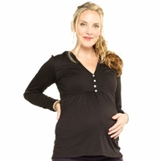 Everly Grey Piper Hooded Maternity & Nursing Top
