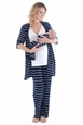 Everly Grey Roxanne 5 PC Mom & Baby Maternity Nursing Pajama