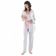 TEMPORARILY OUT OF STOCK Everly Grey Roxanne 5 PC Mom & Baby Maternity Nursing Pajama Set