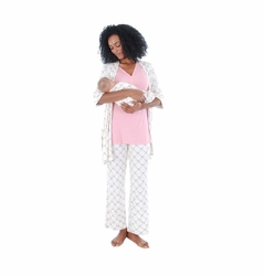 Everly Grey Roxanne 5 PC Mom & Baby Maternity Nursing Pajama Set
