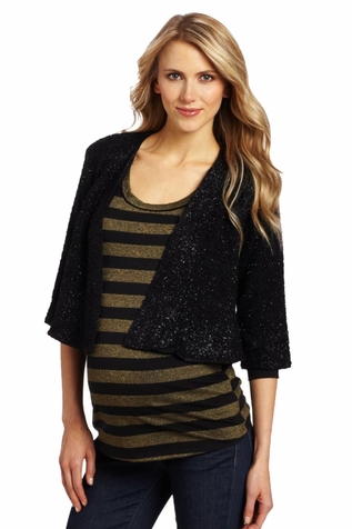 Everly Grey Ruby Maternity Evening Jacket