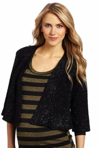 Everly Grey Ruby Sparkle Bolero Jacket