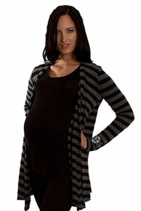 SOLD OUT Everly Grey Sherman Cardigan Sweater - Charcoal Stripe