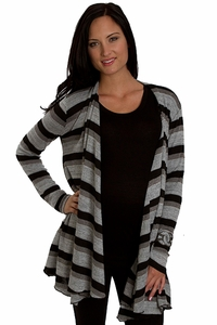 Everly Grey Sherman Cardigan Sweater - Chicago Black