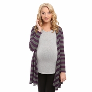 Everly Grey Sherman Cardigan Sweater - Plum Stripe