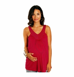 Everly Grey Tula V Halter Maternity Tank Top
