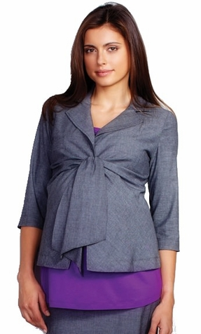 SOLD OUT Front Tie Maternity Blazer by Maternal America