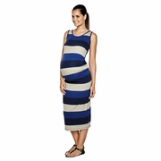 Imanimo Annabelle Bold Stripe Maternity Maxi Dress