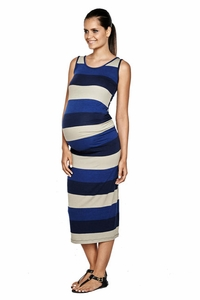 SOLD OUT Imanimo Annabelle Bold Stripe Maternity Maxi Dress