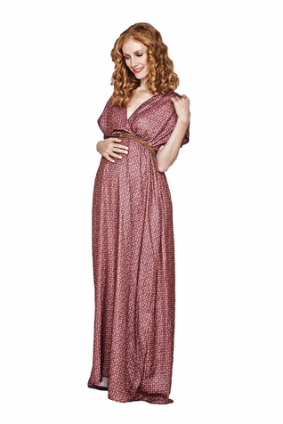 SOLD OUT Imanimo Grace Belted Maternity Maxi Dress