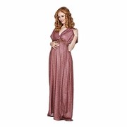 Imanimo Grace Belted Maternity Maxi Dress