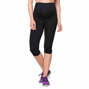 Ingrid And Isabel Maternity Active Fitness Pant With Crossover Panel - Knee