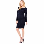 Ingrid & Isabel Boatneck Stretch Lace Maternity Dress