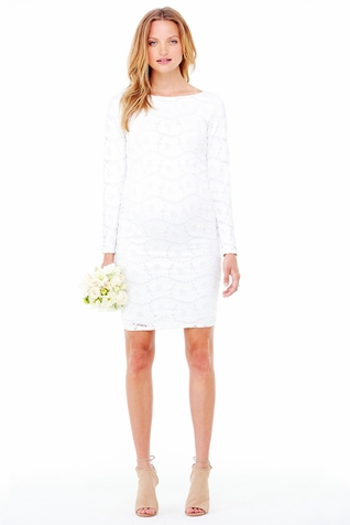 isabel boatneck stretch lace maternity dress maternity clothes