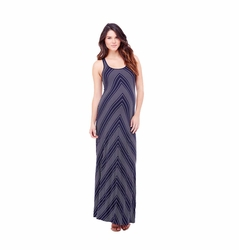 Ingrid & Isabel Chevron Stripe Racerback Maternity Maxi Dress