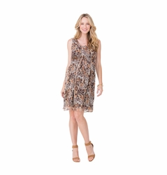 Ingrid & Isabel Leopard Print Chiffon Maternity Dress