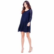 Ingrid & Isabel Long Sleeve Dot Lace Maternity Swing Dress