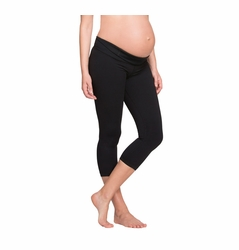 Ingrid & Isabel Maternity Active Fitness Pant With Crossover Panel - Capri