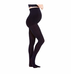 Ingrid & Isabel Maternity Full Belly Tights - Chevron Pattern