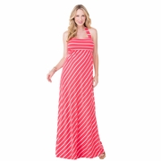 Ingrid & Isabel Striped Convertible Maternity Maxi Dress