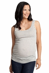Ingrid & Isabel Striped Scoop Neck Maternity Tank Top