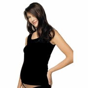 Japanese Weekend Cotton Baby Rib Maternity Tank with Built In Bra