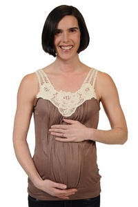 Japanese Weekend Crochet Maternity And Nursing Sleeveless Bubble Top