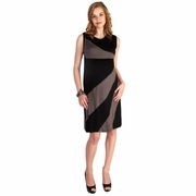 Japanese Weekend Diagonal Stripe Color Block Maternity And Nursing Dress