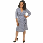 Japanese Weekend Luxe Jersey Maternity Wrap Dress - Chain Link