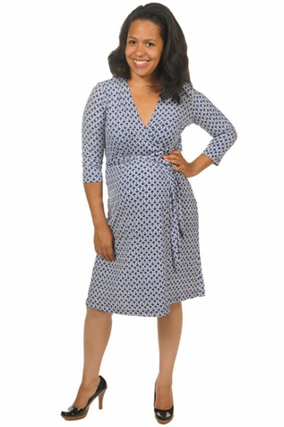SOLD OUT Japanese Weekend Luxe Jersey Maternity Wrap Dress - Chain Link