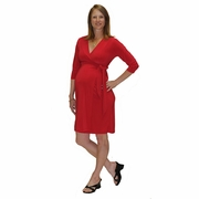 Japanese Weekend Luxe Jersey Maternity Wrap Dress - Solid