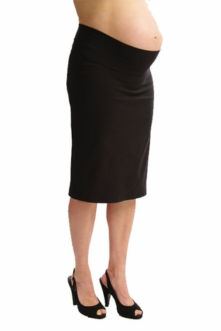 SOLD OUT Japanese Weekend Ok Bengaline Slim Maternity Pencil Skirt