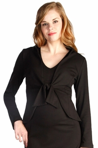 SOLD OUT Japanese Weekend Ponte Tie Front Maternity Jacket