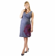 Japanese Weekend Printed Cross Front Maternity & Nursing Dress
