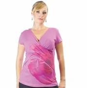 Japanese Weekend Printed Cross Over Maternity & Nursing Top