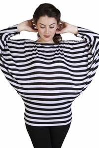 Japanese Weekend Striped Dolman Sleeve Maternity Sweater