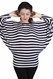 SOLD OUT Japanese Weekend Striped Dolman Sleeve Maternity Sweater