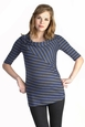 Japanese Weekend Striped Swerve Maternity Top