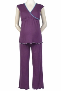 SOLD OUT Japanese Weekend Surplice Crop Maternity And Nursing Pajamas