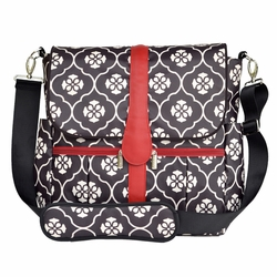 TEMPORARILY OUT OF STOCK JJ Cole Collections Backpack Diaper Bag - Black Floret