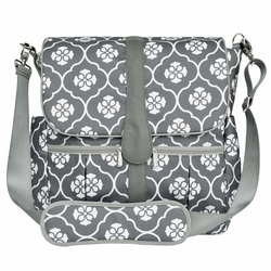 JJ Cole Collections Backpack Diaper Bag - Gray Floret