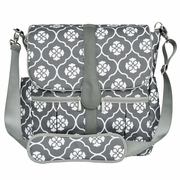 JJ Cole Collection Backpack Diaper Bag - Gray Floret