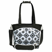 JJ Cole Collections Mode Tote Diaper Bag - Black Magnolia