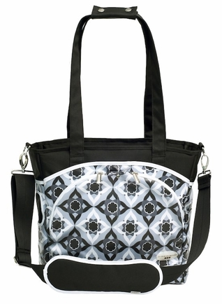 SOLD OUT JJ Cole Collections Mode Tote Diaper Bag - Black Magnolia