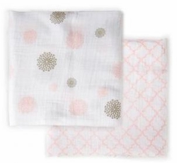 JJ Cole Collections Muslin Blanket Set - Pink or Blue