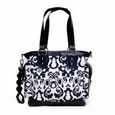JJ Cole Collections Norah Diaper Bag Tote - Midnight Laurel