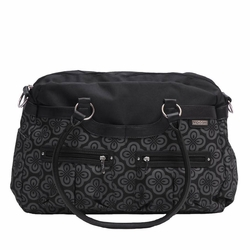 TEMPORARILY SOLD OUT JJ Cole Collections Satchel Diaper Bag - Charcoal Infinity