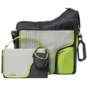 JJ Cole Collections System 180 Bag-Green Stitch Diaper Bag