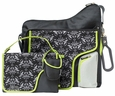JJ Cole Collections System 180 Diaper Bag - Black Damask Diaper Bag